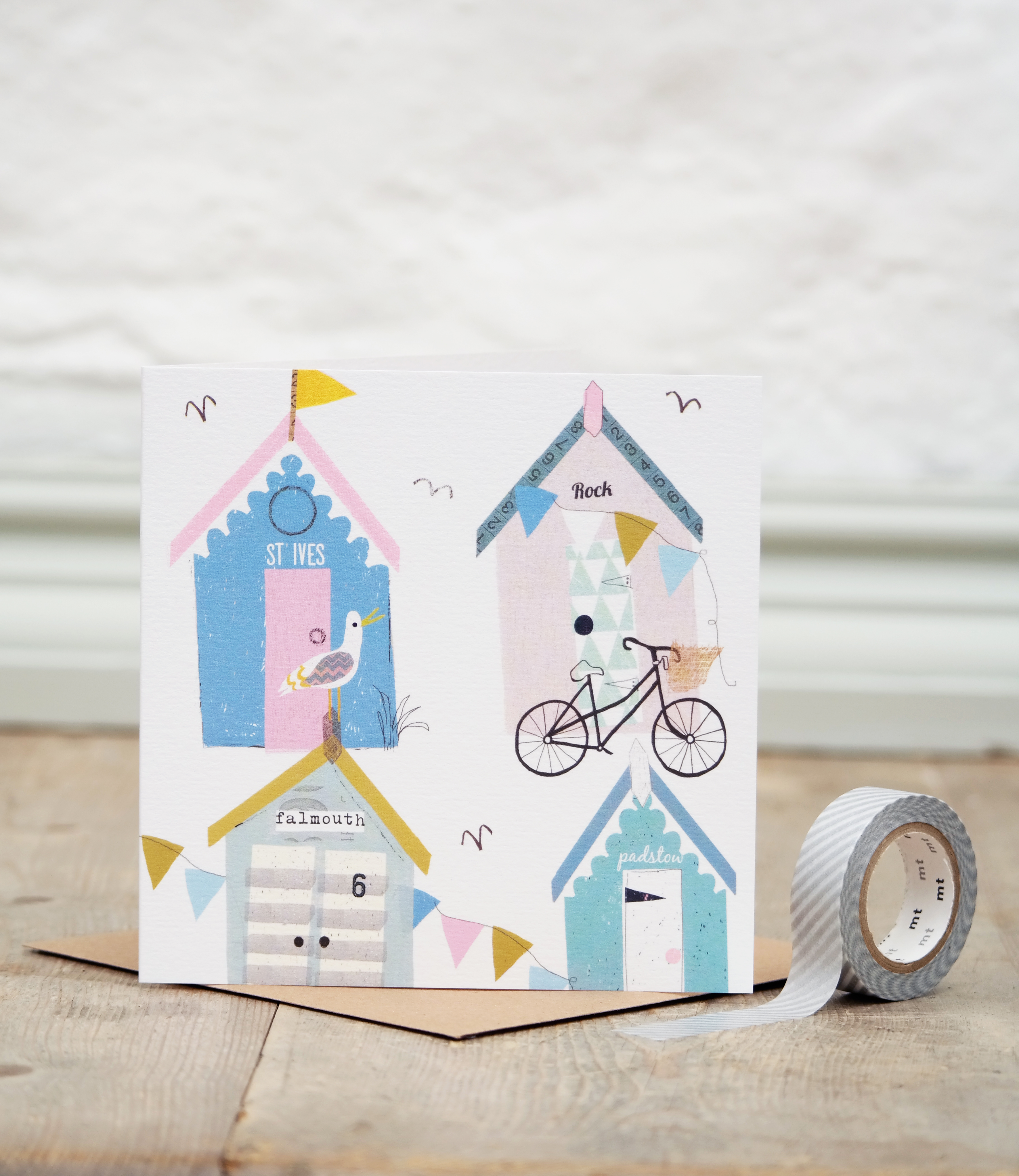 Anna victoria cornish beach huts greetings cards anna victoria cornish beach huts greetings cards kristyandbryce Gallery