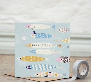 Fish Flock Card