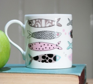 Fish Bone China Mug